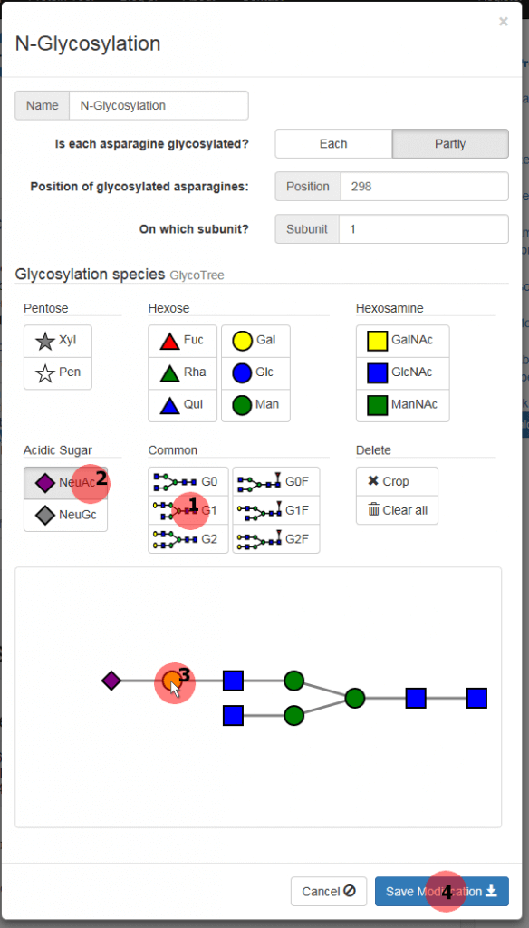 Figure 4: How to create a glycan tree.